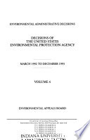 Decisions of the United States Environmental Protection Agency