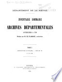 Inventaire sommaire des Archives départementales Hautes-Alpes