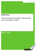 The Precautionary Principle   International Law and Climate Change