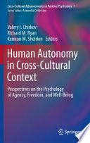 Human Autonomy in Cross Cultural Context