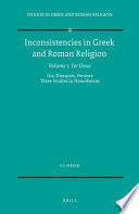 Inconsistencies in Greek and Roman Religion  1  Ter Unus