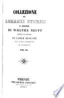 Collezione sei romanzi storici e poetici di Walter Scott
