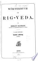 W  rterbuch zum Rig Veda