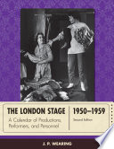 The London Stage 1950 1959