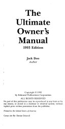 The Ultimate Owner S Manual