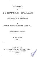 History of European Morals
