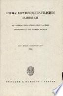 Literaturwissenscheftliches Jahrbuch Im Auftrage Der Gorres-gesellschaft