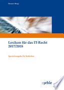 Lexikon IT Recht  Spezialausg  Beh  rden  Ausg  2017 2018