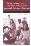 Behavioral Approach to Assessment of Youth with Emotional behavioral Disorders