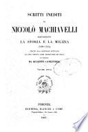 Scritti inediti di Niccolo Machiaveli