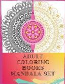 Adult Coloring Books Mandala Set
