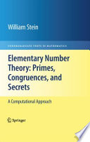 Elementary Number Theory  Primes  Congruences  and Secrets
