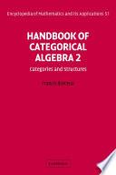 Handbook of Categorical Algebra  Volume 2  Categories and Structures