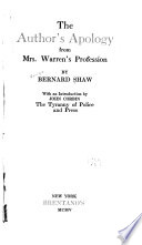 The Author s Apology from Mrs  Warren s Profession by Bernard Shaw