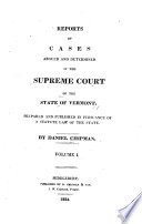 Reports Of Cases Argued And Determined In The Supreme Court Of The State Of Vermont [Pdf/ePub] eBook