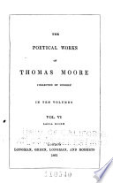 The Poetical Works of Thomas Moore  Lalla Rookh Book PDF