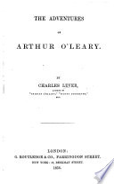 Arthur O Leary  his wanderings and ponderings in many lands  By C  J  L  Book PDF