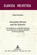 Alexander Herzen und die Schweiz
