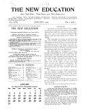 The New Education Vol XVII No 1,2