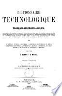 Technologisches Wörterbuch in deutscher, französischer und englischer Sprache0