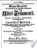 Synopsis Bibliothecae Exegeticae In Vetus Testamentum