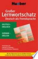 Grosser Lernwortschatz Deutsch als Fremdsprache