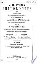 Bibliotheca philologica