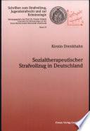 Sozialtherapeutischer Strafvollzug in Deutschland