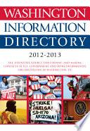 Washington Information Directory 2012 2013