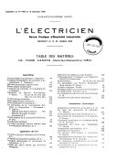 L Electricien  revue internationale de l   lectricit   et de ses applications
