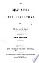 The New York City Directory