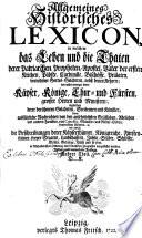 Allgemeines historisches Lexicon