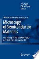 Microscopy Of Semiconducting Materials 2007 book
