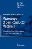 Microscopy of Semiconducting Materials 2007