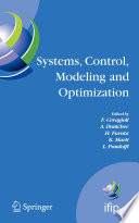 Systems  Control  Modeling and Optimization