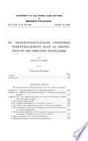 Du transcendantalisme consid  r   essentiellement dans sa definition et ses origines fran  aises