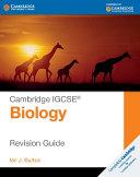 Cambridge IGCSE® Biology Revision Guide