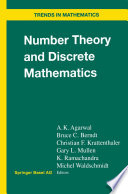 Number Theory And Discrete Mathematics book
