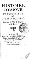 illustration du livre Histoire comique par monsieur de Cyrano Bergerac. Contenant les estats & empires de la lune