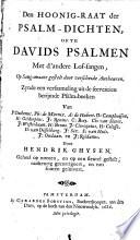 Den hoonig-raat der psalm-dichten, ofte Davids psalmen met d'andere lof-sangen
