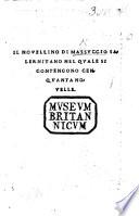Il Novellino di Masuccio Salernitano  nel quale si contengono cenquanta novelle