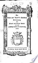 Der Stadt und Republik Solothurn Bestzung der Staats- und übrigen Aemter erneuert auf heiligen Johann des Täufers Tag, 1797