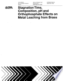 Stagnation time  composition  pH  and orthophosphate effects on metal leaching from brass