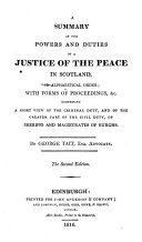 download ebook a summary of the powers and duties of a justice of the peace in scotland, in alphabetical order; with forms of proceedings, etc pdf epub