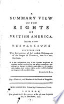 A Summary View Of The Rights Of British America