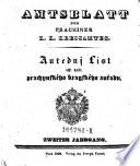 Amtsblatt des k.k. Prachiner Kreisamtes