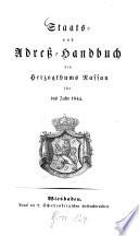 Staats- und Adreß-Handbuch des Herzogthums Nassau