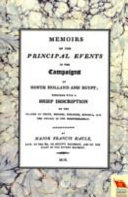 Memoirs Of The Principal Events In The Campaigns Of North Holland And Egypt 1799 1804  book