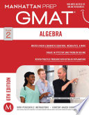 Algebra GMAT Strategy Guide