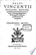 Sermones hyemales, aestivales, de Sanctis